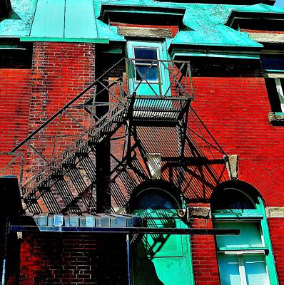 Fire Escape Imprints - Perspective 1 - Ontario - Canada Poster