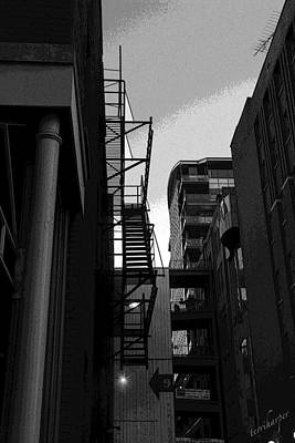 Poster featuring the photograph Fire Escape by Terri Harper