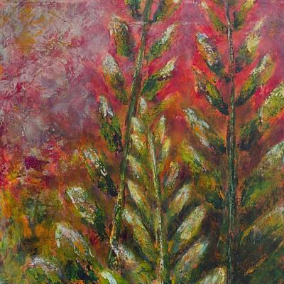 Fire Fern Poster by Linda Krukar