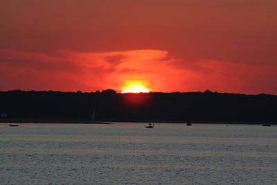 Poster featuring the photograph Fire In The Sky by Karen Silvestri
