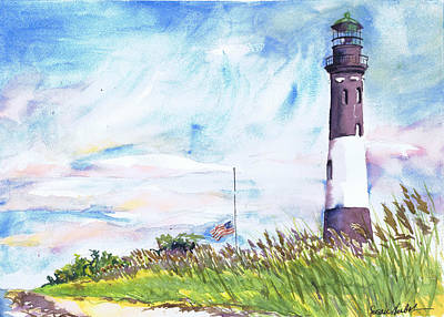 Fire Island Lighthouse Late Summer Poster by Susan Herbst