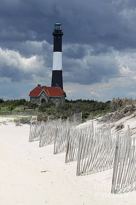 Fire Island Lighthouse With Beachview Poster by Christiane Schulze Art And Photography