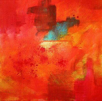 Fire Light Poster by Nancy Merkle