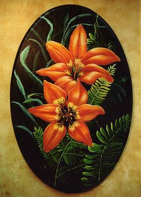 Fire Lilies Poster
