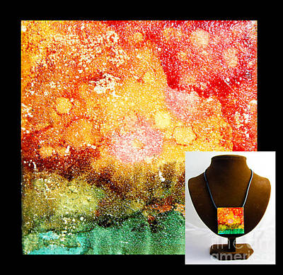 Fire Necklace Poster by Alene Sirott-Cope