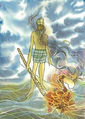 Fire Oz Man Poster
