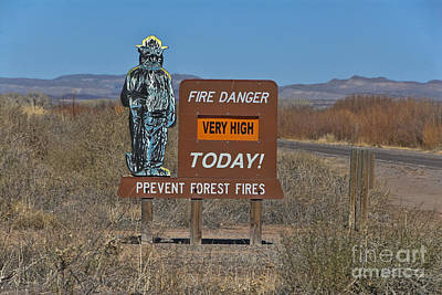 Fire Prevention Sign, Nm Poster