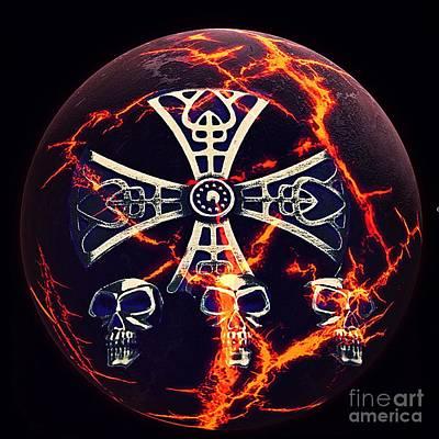 Fire Skulls Poster