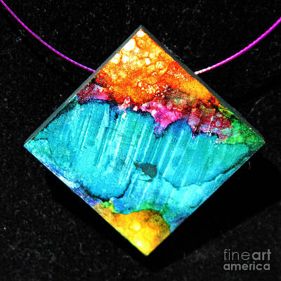 Fire Sky Necklace Poster by Alene Sirott-Cope