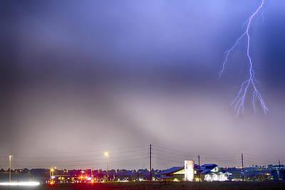 Fire Station Lightning Strike Poster