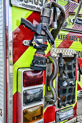 Fire Truck - Keep Back 300 Feet Poster by Paul Ward