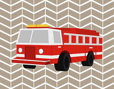 Fire Truck Poster by Tamara Robinson