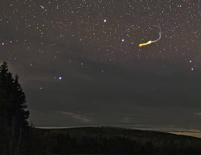 Fireball Over Maine, Usa Poster by Babak Tafreshi