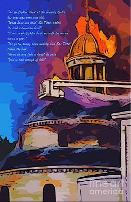 Firefighters Poem Poster