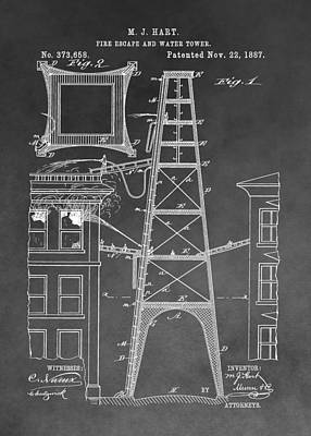 Firefighting Patent Poster by Dan Sproul