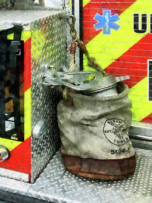 Fireman - Bucket On Fire Truck Poster