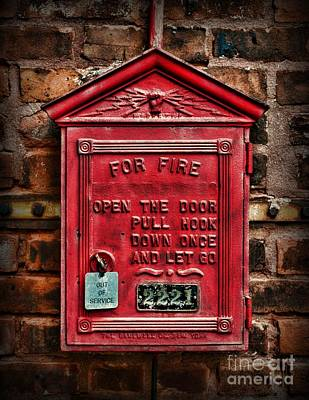 Fireman - Fire Alarm Box - Out Of Service Poster by Paul Ward