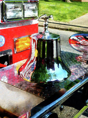 Fireman - Fire Engine Bell Poster by Susan Savad