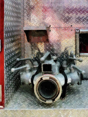 Fireman - Large Fire Hose Nozzle Poster by Susan Savad