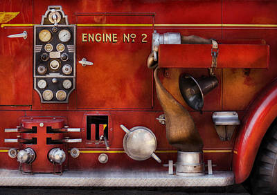 Fireman - Old Fashioned Controls Poster by Mike Savad