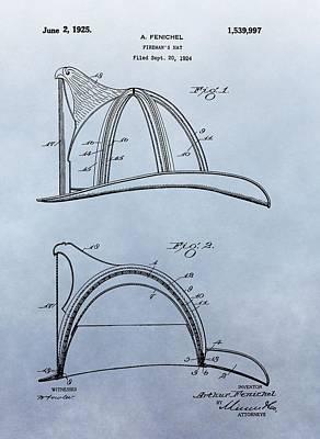 Fireman's Helmet Patent Poster