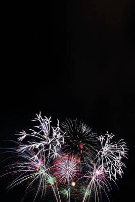 Firework Display At Night Sky Poster