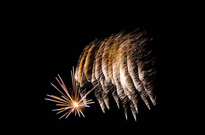 Poster featuring the photograph Fireworks 1 by Susan  McMenamin