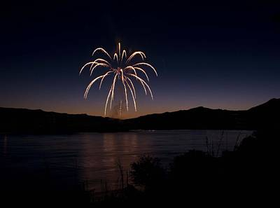 Poster featuring the photograph Fireworks 11 by Sonya Lang