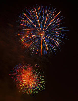 Fireworks 2 Poster by Chris Flees