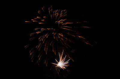 Poster featuring the photograph Fireworks 2 by Susan  McMenamin