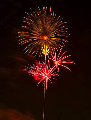 Fireworks 4 Poster by Chris Flees