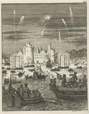 Fireworks And Gondolas In Cairo, Egypt, Jan Luyken Poster