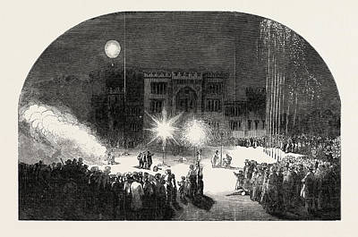 Fireworks At Birr Castle, Parsonstown, The Seat Of The Earl Poster