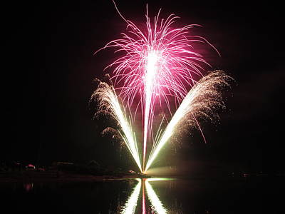 Fireworks At Cooks Poster