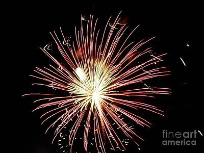 Poster featuring the digital art Fireworks By Aclay by Angelia Hodges Clay