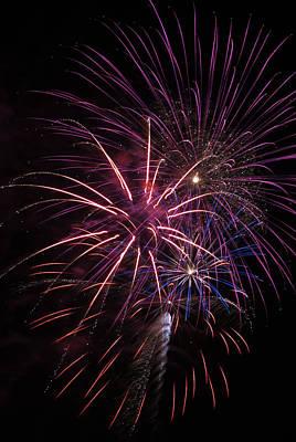 Fireworks Display  Astoria, Oregon Poster by Robert L. Potts