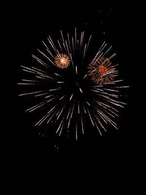 Fireworks Night Poster by Modern Art Prints