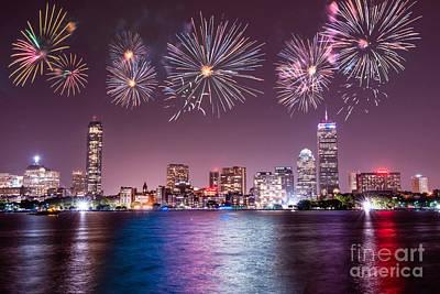 Fireworks Over Boston Poster