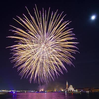 Fireworks Over Venice Poster