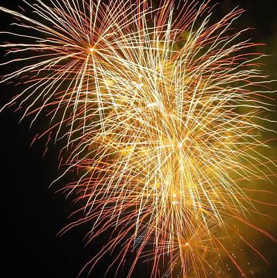 Fireworks Poster by Ramona Johnston