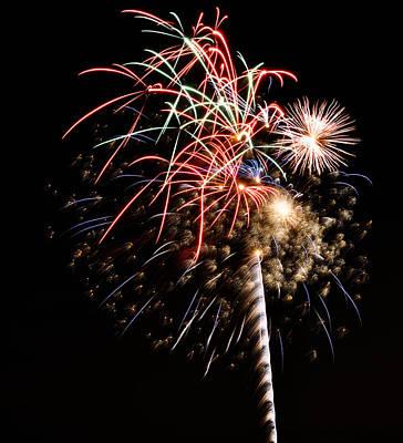 Fireworks Poster by Robert Martinez