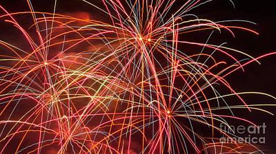 Fireworks - Royal Australian Navy Centenary 3 Poster by Kaye Menner