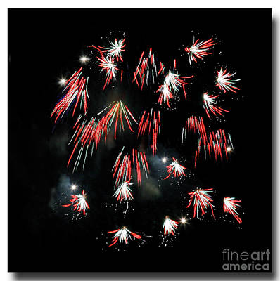 Poster featuring the photograph Fireworks Squared by Chris Anderson