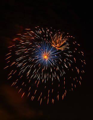Fireworks1 Poster by Chris Flees