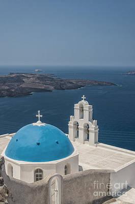 Firostefani Church On Santorini Poster
