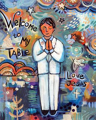 First Communion Boy Poster by Jen Norton