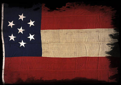 First Confederate Flag Poster by Daniel Hagerman