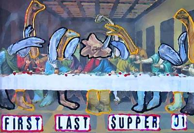 Poster featuring the painting First Last Supper by Lisa Piper