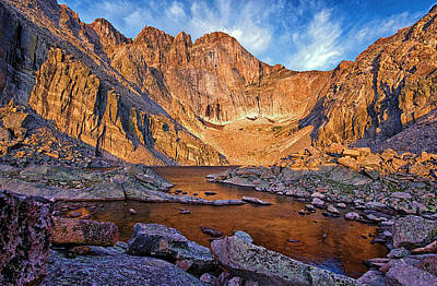 First Light At Chasm Lake Poster by Brian Kerls
