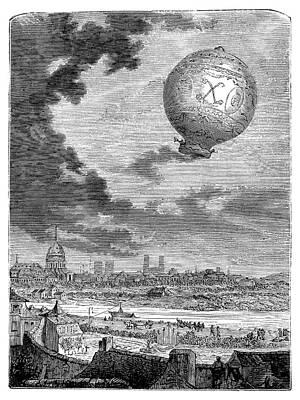 First Manned Balloon Flight Poster